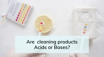 Are cleaning products acids or bases
